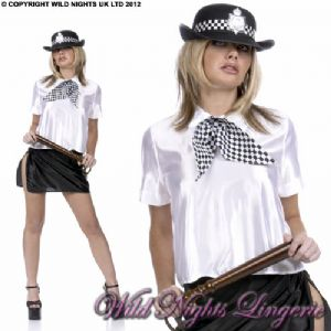 SEXY POLICE WOMANS UNIFORM + HAT